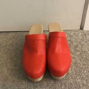 Free people red clogs